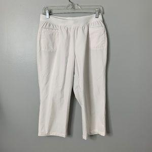 Chico's White Zenergy Pull On Pants